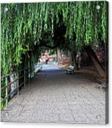 Walkway By The River Acrylic Print