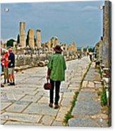 Walkway To Harbor In Ephesus-turkey Acrylic Print