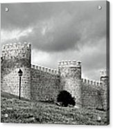 Wall Against Clouds Acrylic Print