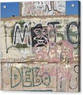 Wall Art Graffiti Concrete Walls Casa Grande Arizona 2004 Acrylic Print