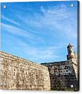 Wall Of Cartagena Colombia Acrylic Print