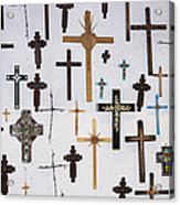 Wall Of Crosses Acrylic Print