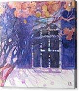 Wall Of Hydrangea Acrylic Print