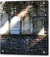 Wall Of Tombstones Knocked Down During Civil War Acrylic Print