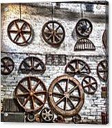 Wall Of Wheels Acrylic Print