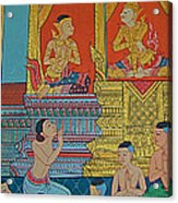 Wall Painting 2 In Wat Po In Bangkok-thailand Acrylic Print