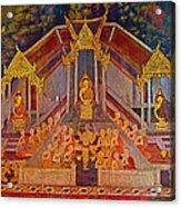 Wall Painting 3 At Wat Suthat In Bangkok-thailand Acrylic Print