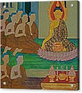 Wall Painting 3 In Wat Po In Bangkok-thailand Acrylic Print