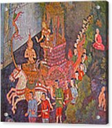 Wall Painting At Wat Suthat In Bangkok-thailand Acrylic Print