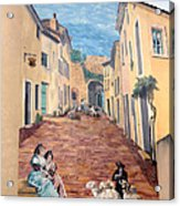 Wall Painting In Provence Acrylic Print