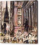 New York Wall Street - Fine Art Acrylic Print