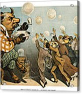 Wall Street Bubbles Always The Same Acrylic Print