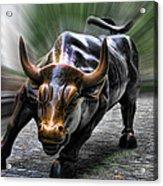 Wall Street Bull Acrylic Print