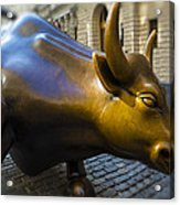 Wall Street Bull Market Acrylic Print