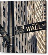 Wall Street Sign Acrylic Print