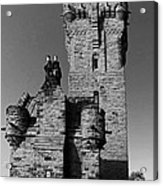 Wallace Monument Monochrome Acrylic Print
