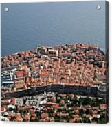 Walled City Of Dubrovnik Acrylic Print