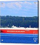 Wallenius Wilhelmsen Logistics Tamerlane Ship Acrylic Print