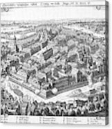 Wallenstein's Army Besieges  Leipzig Acrylic Print