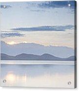 Wallis Lake Sunset Acrylic Print by Steve Caldwell