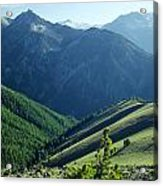1m5903-wallowa Mountains And Valley Of The East Fork Acrylic Print