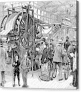 Wallpaper Printing, 1876 Acrylic Print