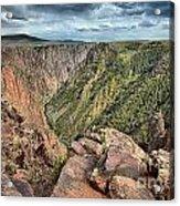 Walls Of The Black Canyon Acrylic Print