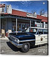 Wallys Service Station Acrylic Print