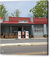 Wallys Service Station Mayberry Acrylic Print by Bob Pardue