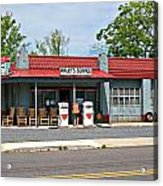 Wallys Service Station Mt. Airy Nc Acrylic Print by Bob Pardue