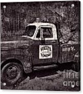 Wally's Towing Bw Acrylic Print