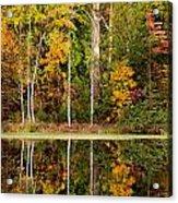 Walnut Creek Lake Autumn Reflection Acrylic Print