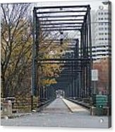 Walnut Street Bridge Looking At Harrisburg Acrylic Print