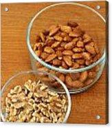 Walnuts And Almonds Acrylic Print