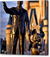 Walt And Mickey Acrylic Print