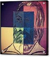 Walt Whitman In Color Acrylic Print by Nickolas Kossup