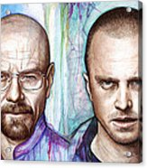 Walter And Jesse - Breaking Bad Acrylic Print