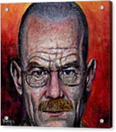 Walter White Acrylic Print by Mark Tavares