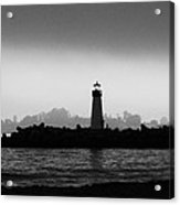 Walton Lighthouse Bw Acrylic Print by Deana Glenz