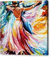 Waltz - Palette Knife Oil Painting On Canvas By Leonid Afremov Acrylic Print
