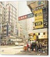 wanchai street in Hong Kong Acrylic Print