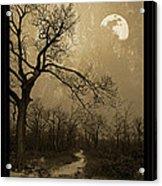 Waning Winter Moon Acrylic Print