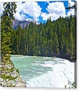 Wapta Falls In Yoho Np-bc  Acrylic Print