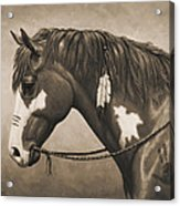 War Horse Aged Photo Fx Acrylic Print