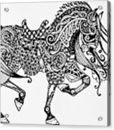 War Horse - Zentangle Acrylic Print