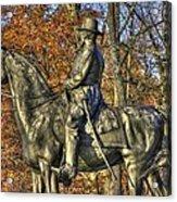War Horses - Major General John Sedgwick Commanding Sixth Corps Autumn Gettysburg Acrylic Print
