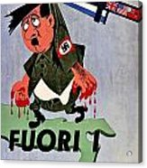 War Poster - Ww2 - Out With The Fuhrer Acrylic Print