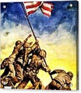 War Poster - Ww2 - Iwo Jima Acrylic Print