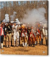 War - Revolutionary War - The Musket Drill Acrylic Print by Mike Savad