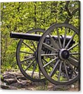 War Thunder - 5th United States Artillery Hazletts Battery - Little Round Top Gettysburg Spring Acrylic Print
